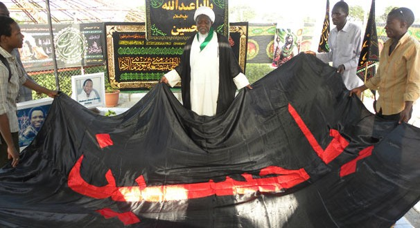 Ahead of Ashura Majalis, Nigeria Quds Day Martyrs receive blessing of Imam Hussain's flag from Karbala + Pics