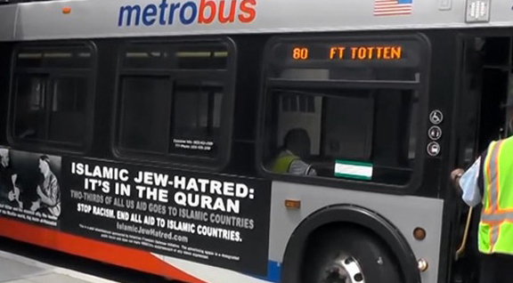 Pro-Zionists Run an Anti-Islamic Ad on Philadelphia Buses / Photos
